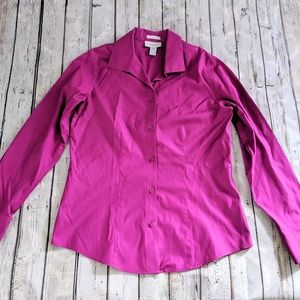 Fuchsia Chico's Button Down Blouse